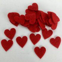 Filc szív 2 cm