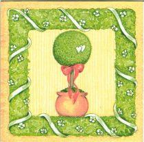 Szalvéta 33cm x 33cm rózsafa, fa