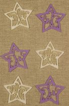 Filcfigura csillag áttört világos lila