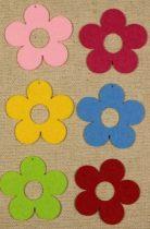 Filcfigura - Virág lyukas közepű ötszirmú közepes (6 db/cs)