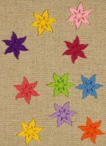 Filcfigura csillagvirág színes