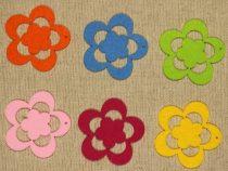 Filcfigura - Virág ötszirmú (K) (6 db/cs)