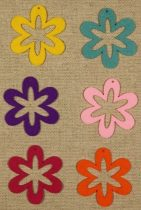 Filcfigura - Virág hatszirmú (L) (6 db/cs)