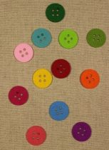 Filcfigura színes gomb 30 mm
