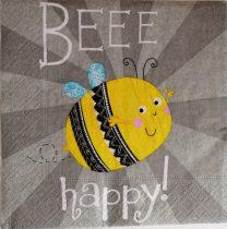 Szalvéta méhecskés