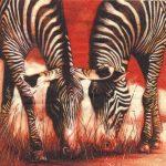 dekoszalvéta afrika zebra, szalvéta zebra, szalvéta afrika