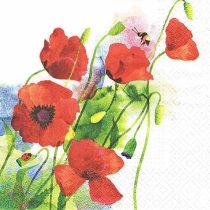 szalvéta, dekorszalvéta, dekupázs, decoupage, nyári virág, pipacs, színes virág