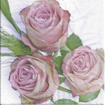 szalvéta, dekorszalvéta, rózsás szalvéta, dekupázs, decoupage, rózsaszín rózsa