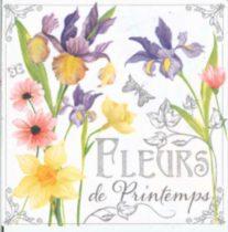 szalvéta, dekorszalvéta, virágok, tavaszi virágok, virágos szalvéta