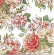 szalvéta, dekorszalvéta, rózsás szalvéta, piros rózsa, vörös rózsa, dekupázs, decoupage