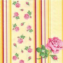 szalvéta, dekorszalvéta, rózsás szalvéta, mini rózsa, dekupázs, decoupage
