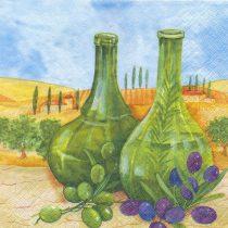 dekorszalvéta oliva, szalvéta oliva, mediterrán szalvéta, olajbogyós szalvéta, szalvéta olajbogyó