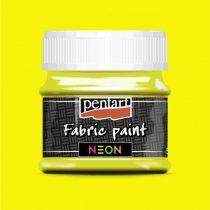 Pentart Textilfesték neon sárga 50 ml
