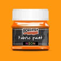 Pentart Textilfesték neon narancs 50 ml