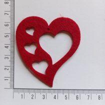 Filcfigura szív