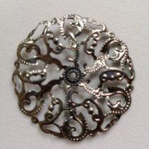 Fém díszítőelem, kerek 4,5 cm (R)