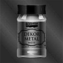 Pentart Dekor Metál matt festék 100 ml ANTRACIT