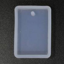 Professzionális szilikon öntőforma, átlátszó, téglalap 2,3 cm x 3,3 cm x 0,8 cm (R)
