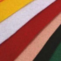 Barkácsfilc, filc lapok több színben 40cm x 50cm méretben