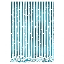 Stamperia stencil - Hullámpapír