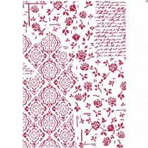 Stamperia Stencil / Festősablon - Rózsák és dekorációk