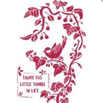 Stamperia Stencil / Festősablon - Kismadarak az ágon