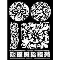 Stencil 25 cm x 20 cm x 0,5 mm - Majolika minta