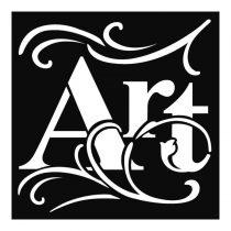 Stencil 18 cm x 18 cm x 0,5 mm - Művészet