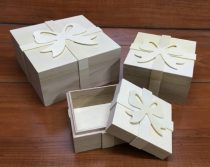 Fa doboz szett masnis 3 darabos