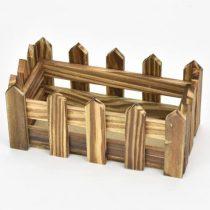 Fa ládika kerítéses hosszú két színben tégla kicsi
