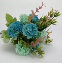 Szegfű csokor kék 33 cm