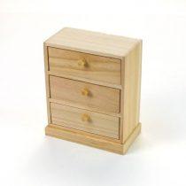 Fa 3 fiókos szekrény