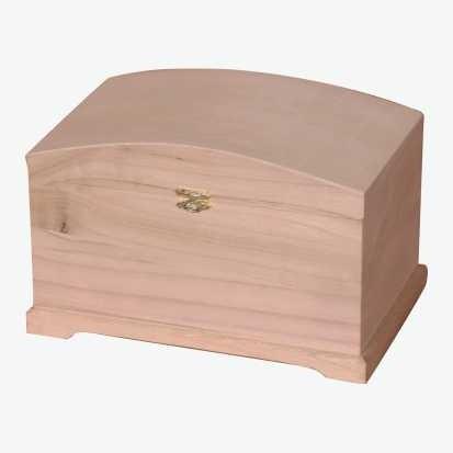 Fa doboz íves tetejű