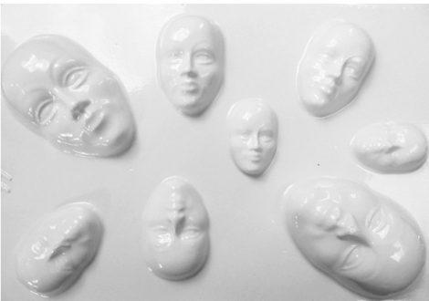 Gipszkiöntő forma - Mini maszkok  66