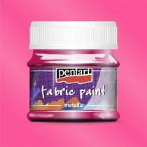 Pentart Textilfesték metál pink 50 ml