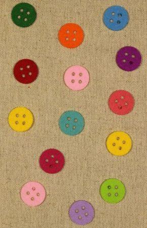 Filcfigura színes gomb 25 mm