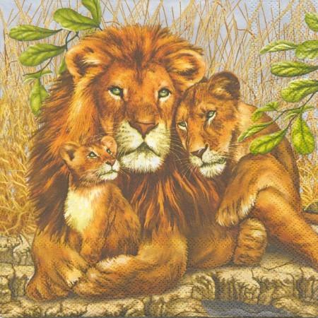 Dekorszalvéta oroszlános