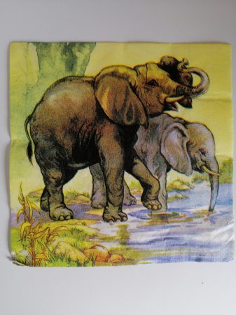 Dekorszalvéta Elefánt