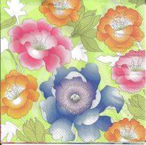 szalvéta, dekorszalvéta, dekupázs, decoupage, nyári virágok, színes virágok