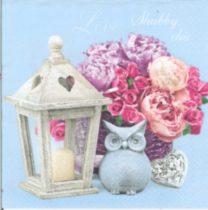 Dekorszalvéta - Shabby Cich Lentern