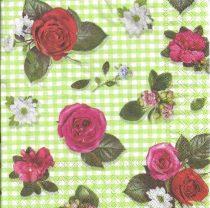 Dekorszalvéta - Rózsa és levél