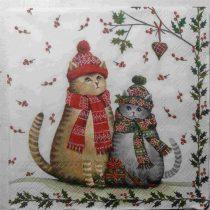 Dekorszalvéta - Christmas Cats