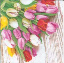Dekorszalvéta - bunch of tulips