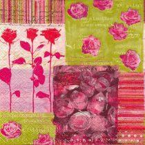 Dekorszalvéta - Collage of roses
