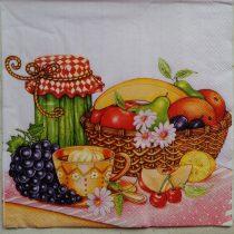 Dekorszalvéta - Gyümölcskosár