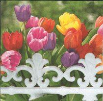 dekorszalvéta, szalvéta, tulipán, tulipáncsokor