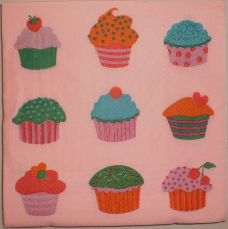 Dekorszalvéta - Muffinok