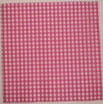 Dekorszalvéta - Kockás Pink Fehér