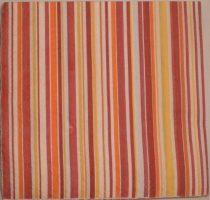 Dekorszalvéta - Csíkos Piros Narancs Sárga Fehér
