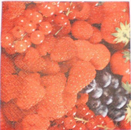 Dekorszalvéta - Bogyós Gyümölcsök Erdei Gyümölcsök
